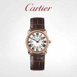 Cartier卡地亚Ronde Louis系列石英机械腕表 玫瑰金钻石手表