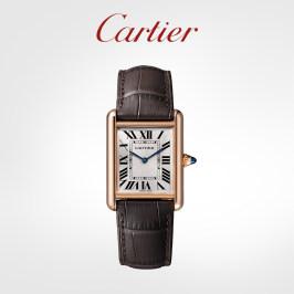 Cartier卡地亚Tank Louis Cartier系列腕表 玫瑰金鳄鱼皮表带手表