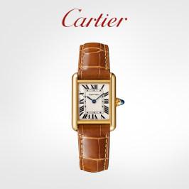 Cartier卡地亚Tank Louis Cartier系列腕表 黄金鳄鱼皮表带手表