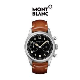 Montblanc/万宝龙官方正品1858系列男士精钢自动机械计时腕表