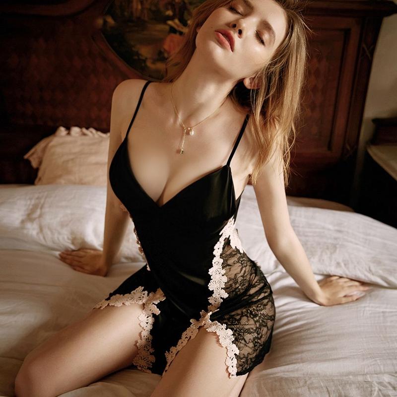 性感情趣内衣骚开档免脱睡衣激情套装变态制服诱惑超骚床上挑逗女