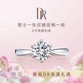 DR FOREVER经典款1克拉钻石戒指女戒求婚结婚钻戒婚戒官方旗舰店