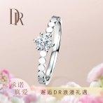 DR TRUE LOVE系列情圆一生求婚钻戒结婚钻石戒指女戒官方旗舰店