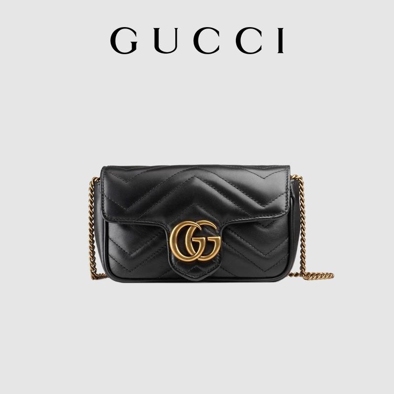 GUCCI古驰GG Marmont系列Supermini手袋女包