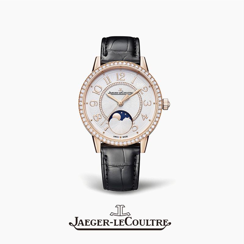 JAEGER-LECOULTRE积家约会系列月相腕表 玫瑰金钻石自动机械女表