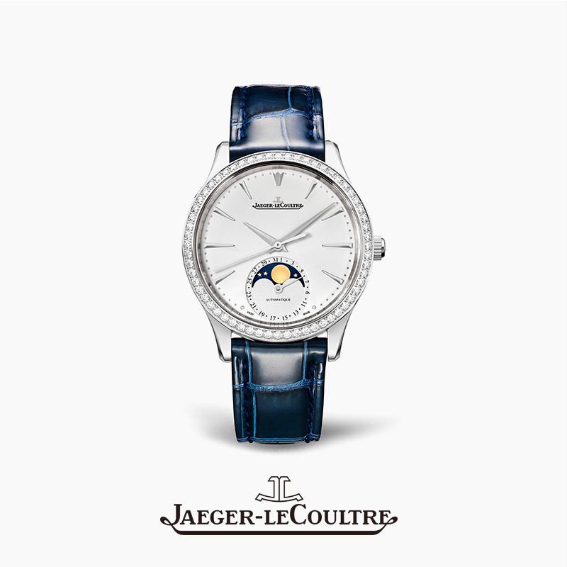 JAEGER-LECOULTRE积家MASTER大师系列月相腕表精钢自动机械手表女
