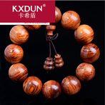 KXDUN/卡希盾海越南老挝黄花梨手串2.0佛珠手链虎皮纹花梨XJ0410