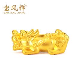 3D硬金貔貅手链男女 999足金转运珠皮丘路路通手串黄金貔貅