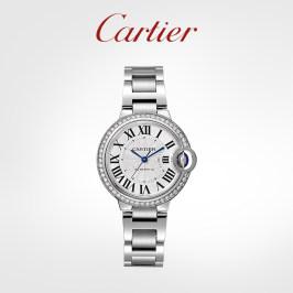 Cartier卡地亚Ballon Bleu蓝气球系列石英机械腕表 精钢钻石手表